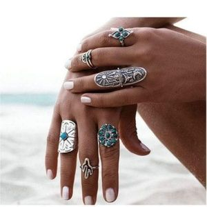 Jewelry - Boho Vintage Style 9PCS Set